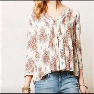 Cute printed top from Anthropologie!